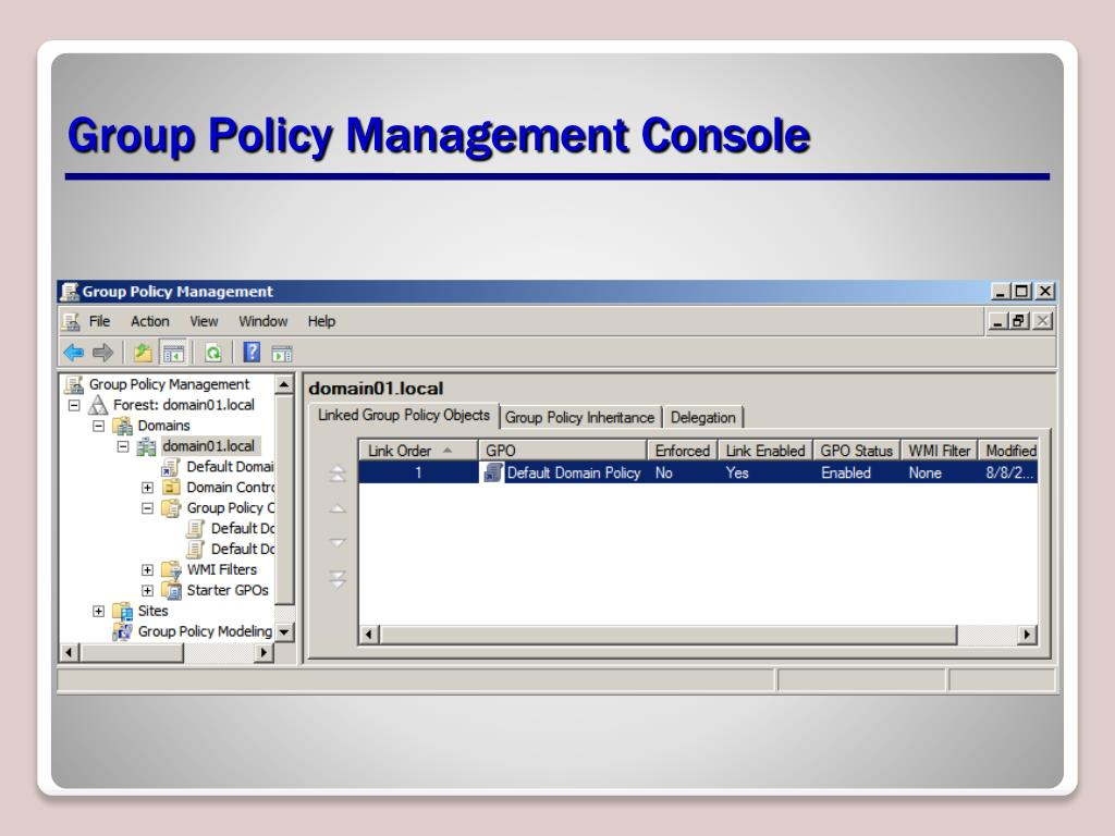 PPT - Planning a Group Policy Management and Implementation Strategy