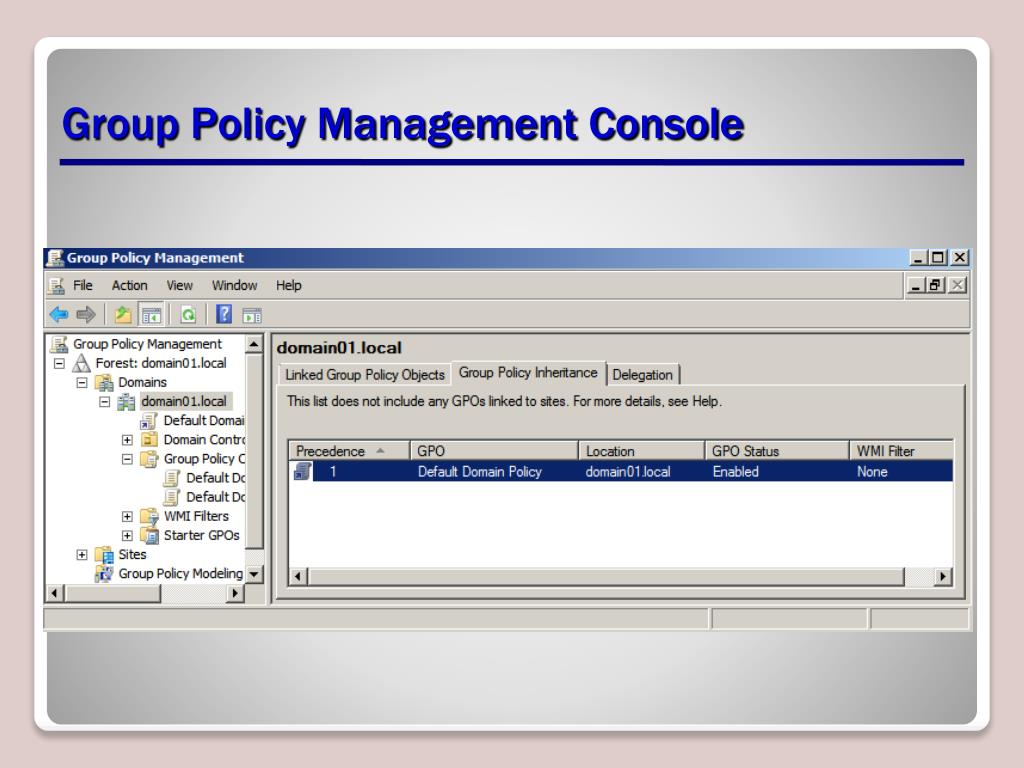 PPT - Planning a Group Policy Management and Implementation