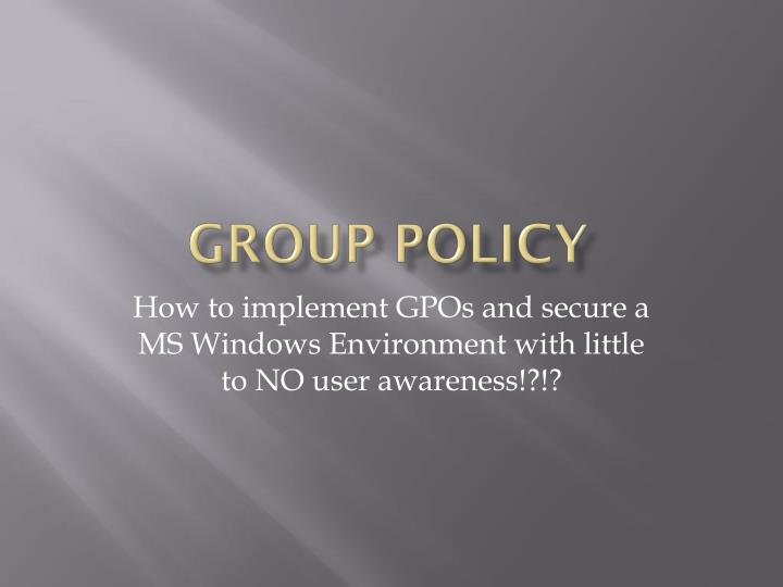 group policy n.