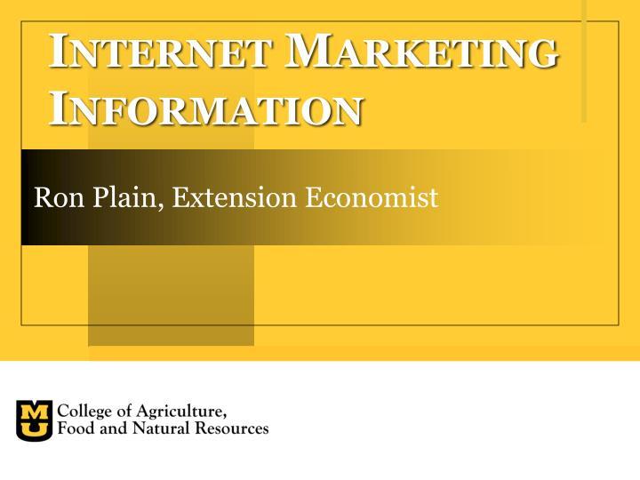 internet marketing information n.