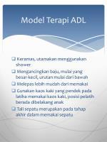 model terapi adl