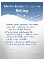 model terapi gangguan bullying