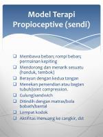 model terapi propioceptive sendi