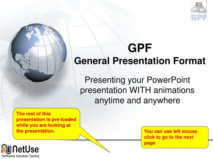 "presentation format Developing an organized presentation starts with your introduction the introduction opens your speech the common way in which many presenters start their talks — ""my name is   "" or ""today i'm going to talk to you about   "" — is not much of an introduction."