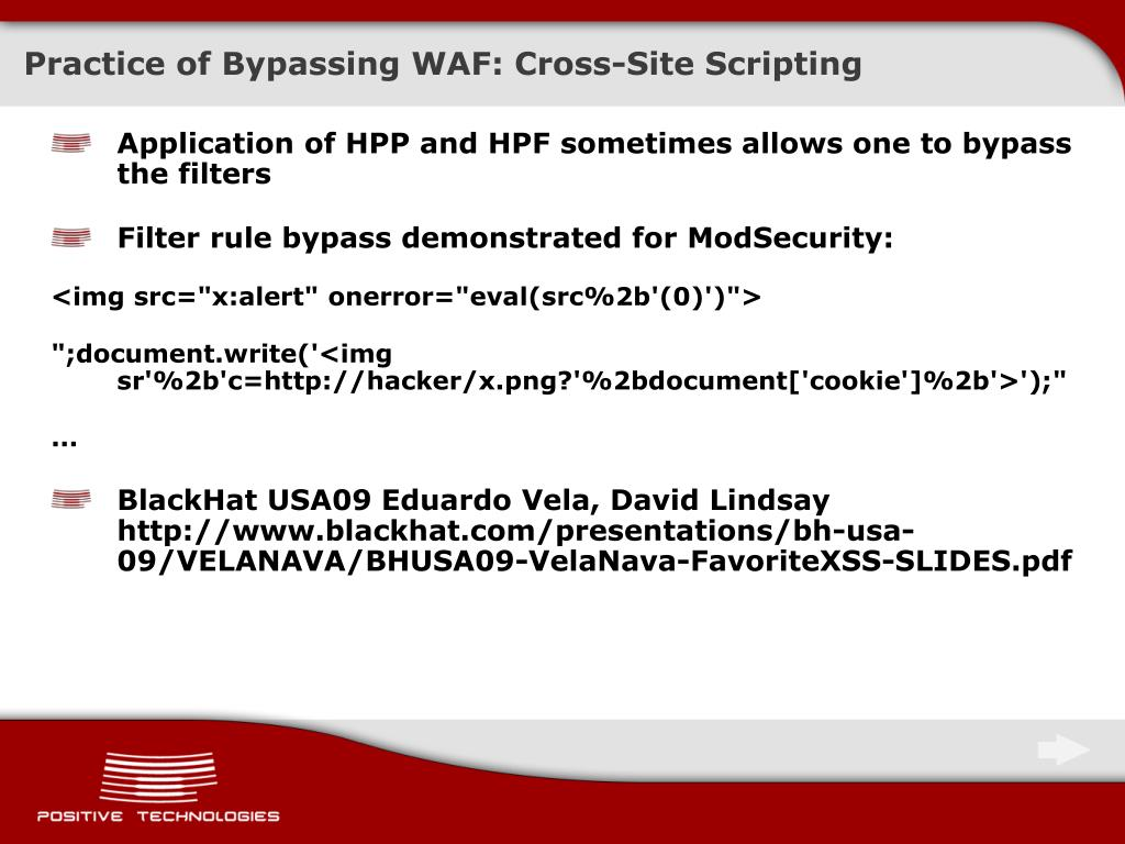 PPT - Methods to Bypass a Web Application Firewall PowerPoint