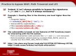 practice to bypass waf path traversal and lfi