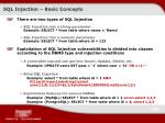 sql injection basic concepts