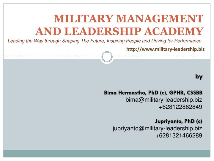 military management and leadership academy n.