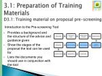 3 1 preparation of training materials d3 1 training material on proposal pre screening2