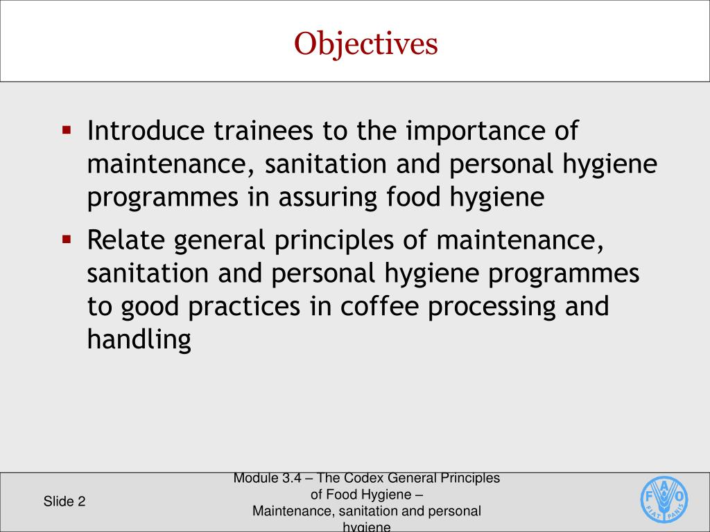 PPT - The Codex General Principles of Food Hygiene