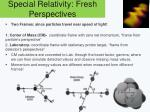 special relativity fresh perspectives