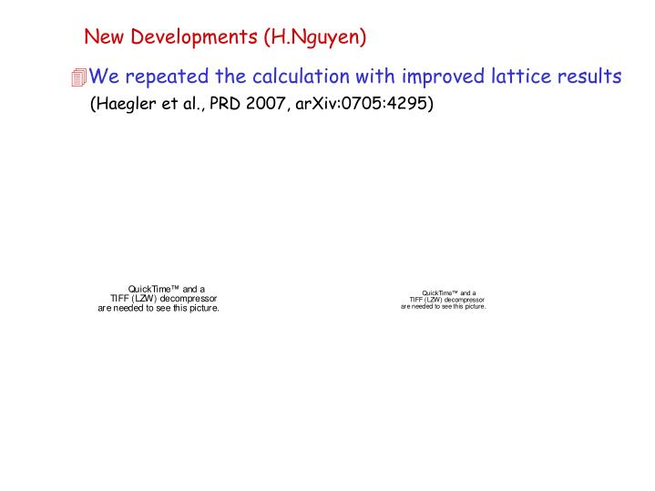 New Developments (H.Nguyen)