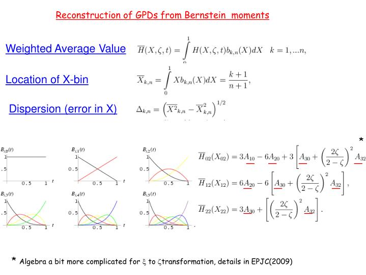 Reconstruction of GPDs from Bernstein  moments