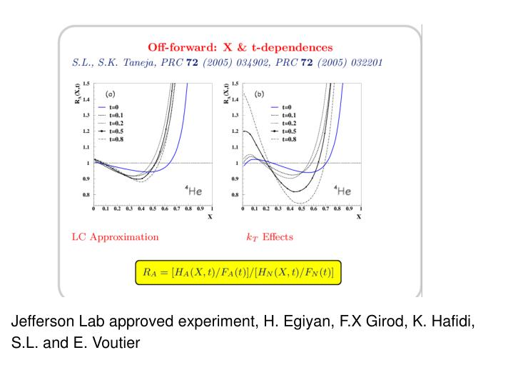 Jefferson Lab approved experiment, H. Egiyan, F.X Girod, K. Hafidi,