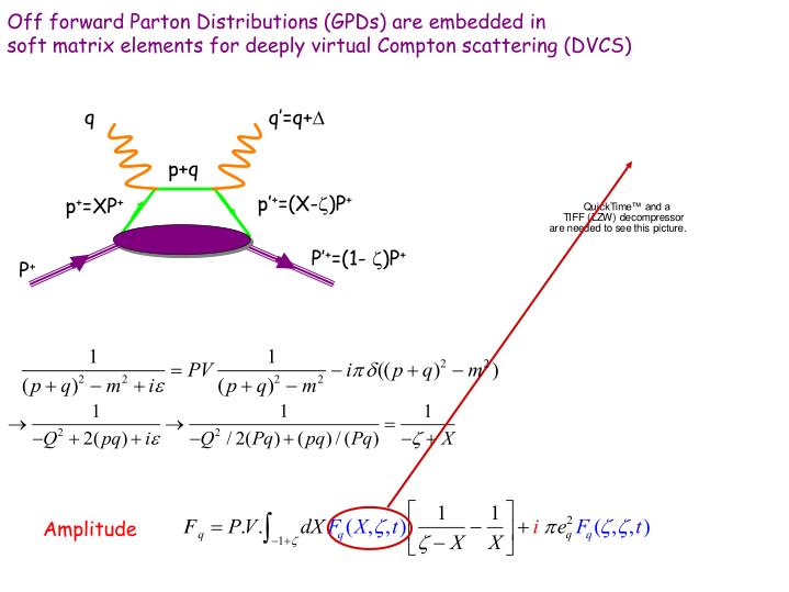 Off forward Parton Distributions (GPDs) are embedded in