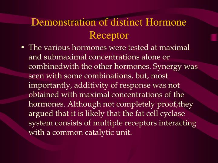 Demonstration of distinct Hormone Receptor