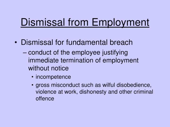 Dismissal from Employment