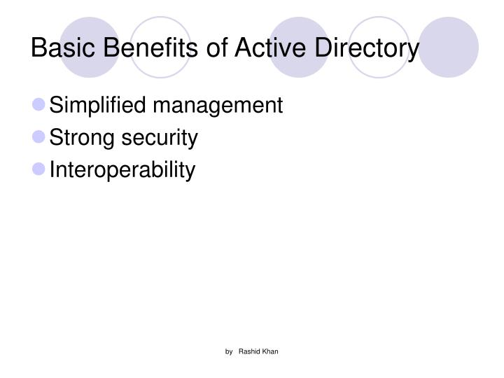 Basic Benefits of Active Directory