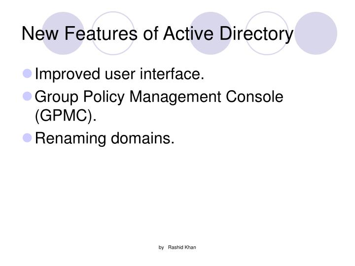 New Features of Active Directory