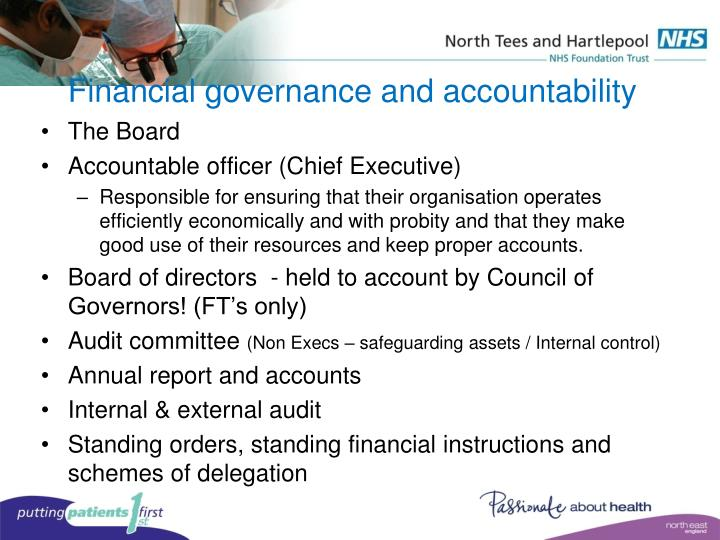 Financial governance and accountability