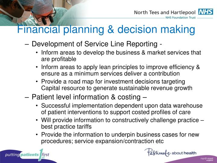 Financial planning & decision making