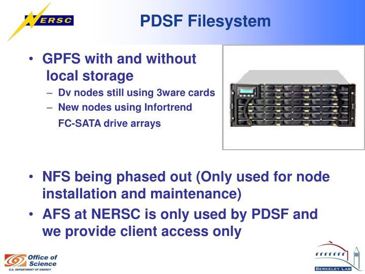 Pdsf filesystem