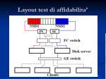 layout test di affidabilita