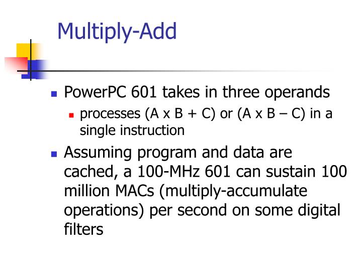 Multiply-Add