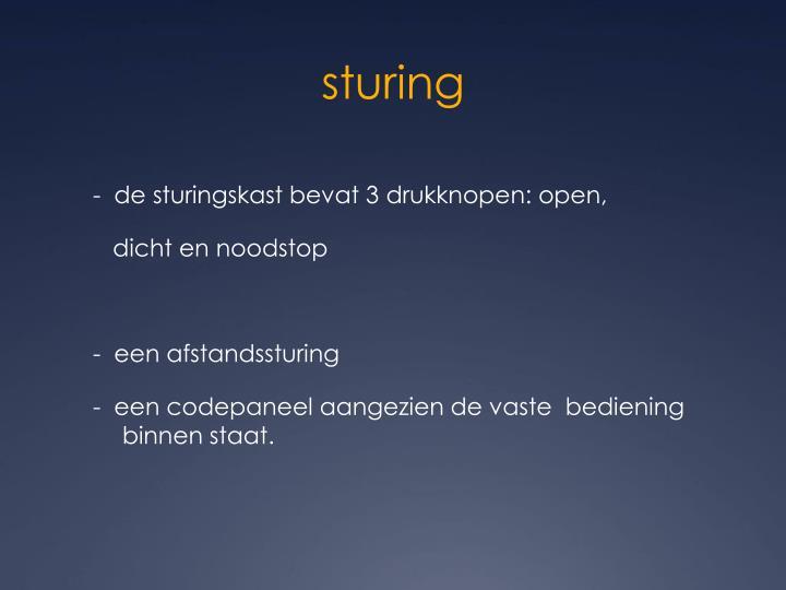 sturing