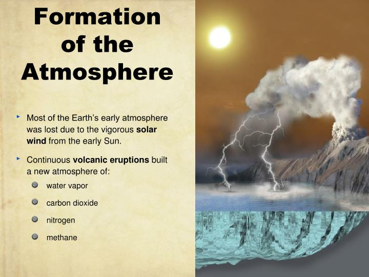 formation of the atmosphere n.