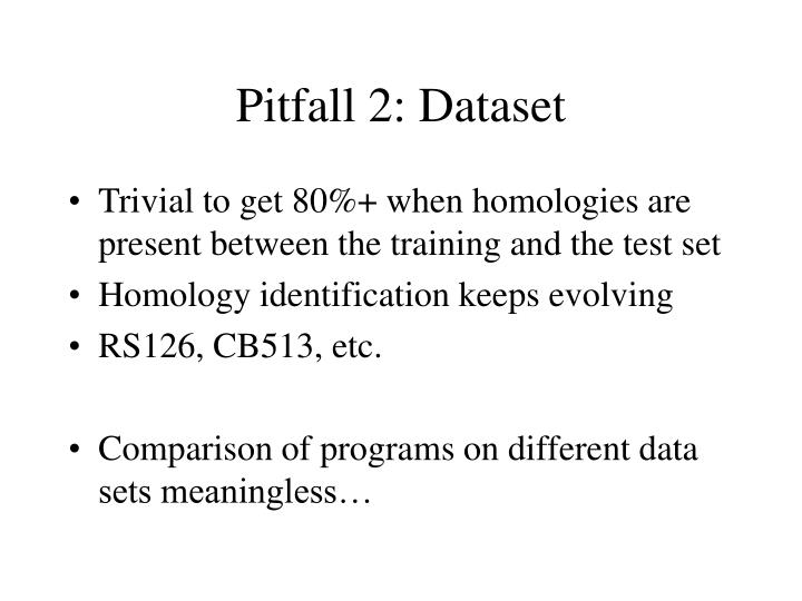 Pitfall 2: Dataset