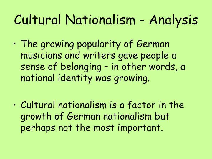 Cultural Nationalism - Analysis