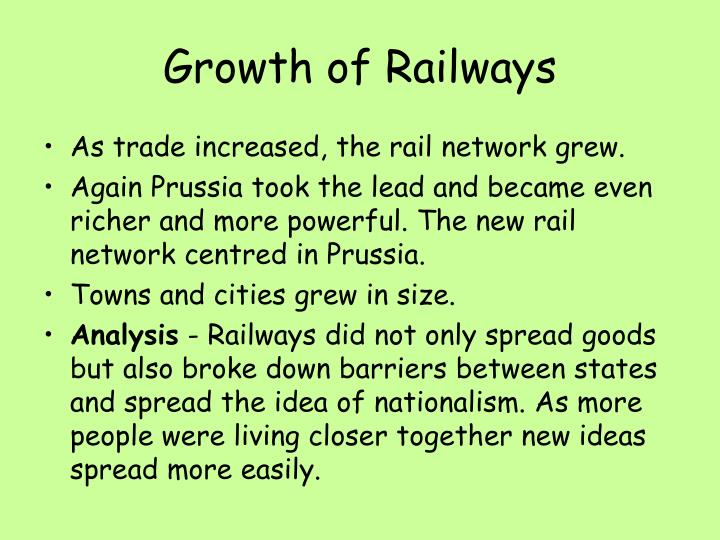Growth of Railways