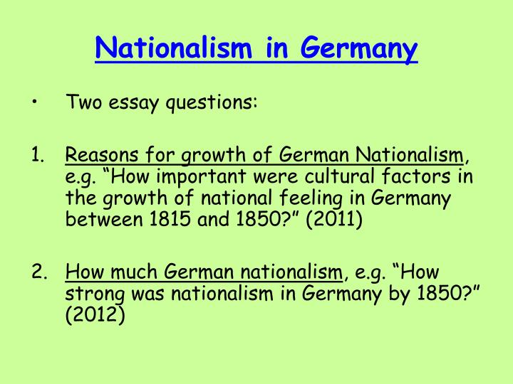Nationalism in germany