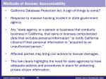 methods of access accountability