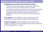 methods of access onsite computers cont d