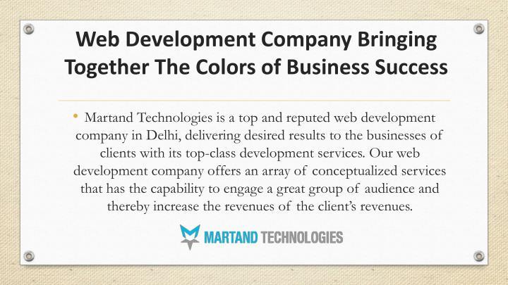 Web development c ompany b ringing t ogether t he c olors of business s uccess