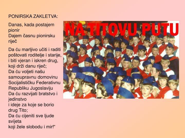 PONIRSKA ZAKLETVA: