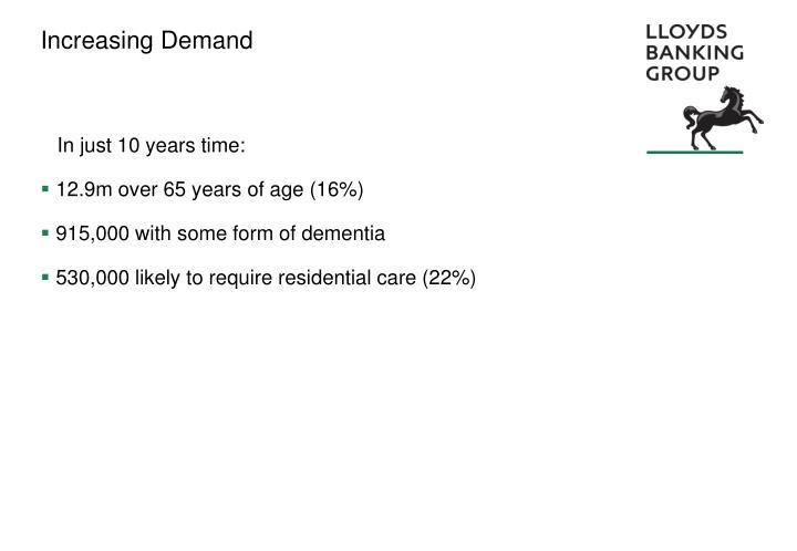 Increasing Demand