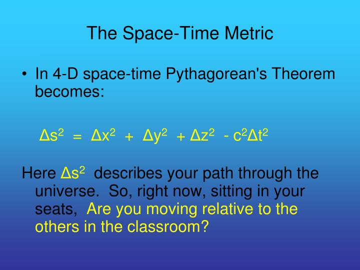 The Space-Time Metric