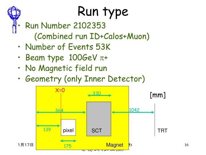 Run type