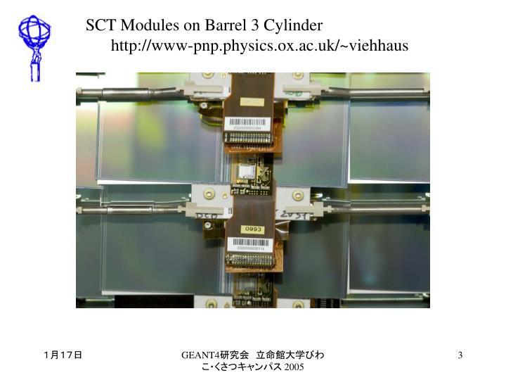 SCT Modules on Barrel 3 Cylinder