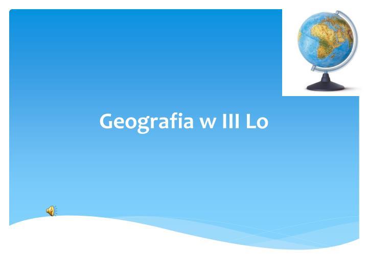 geografia w iii lo