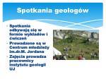spotkania geolog w