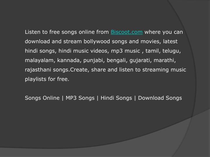hindi songs online free listen and download
