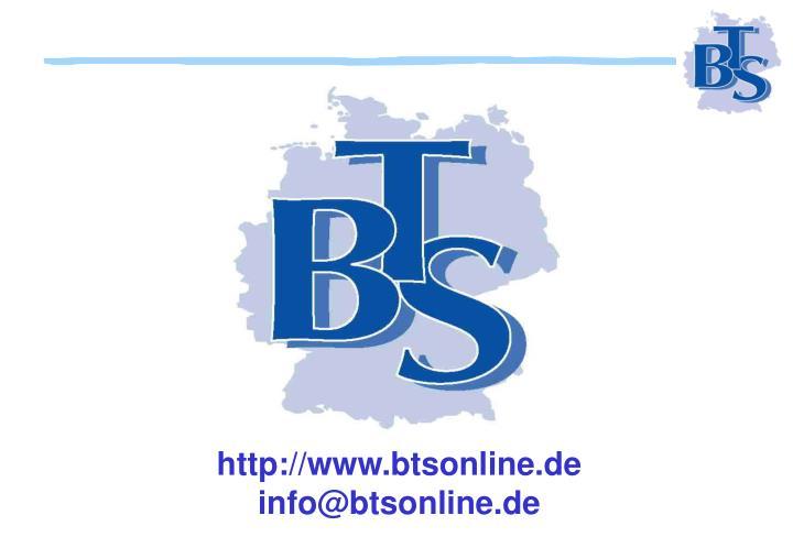 http://www.btsonline.de