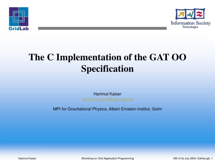 The c implementation of the gat oo specification
