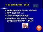 4 eu beleid 2007 2013