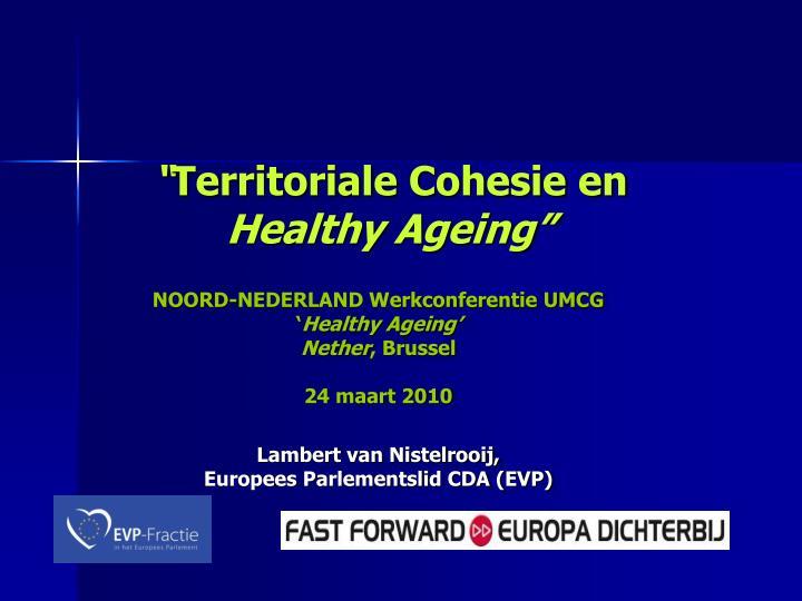 territoriale cohesie en healthy ageing n.
