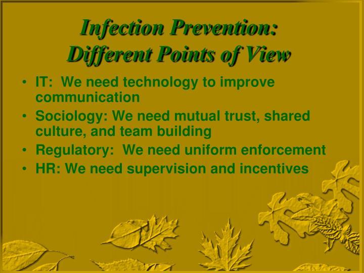 IT:  We need technology to improve communication